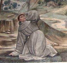 DOMENICO, il GHIRLANDAIO - Stimmate di San Francesco (Dettaglio) - affresco - 1482-85 ca. - parete sinistra - Cappella Sassetti - Basilica di Santa Trinità - Firenze