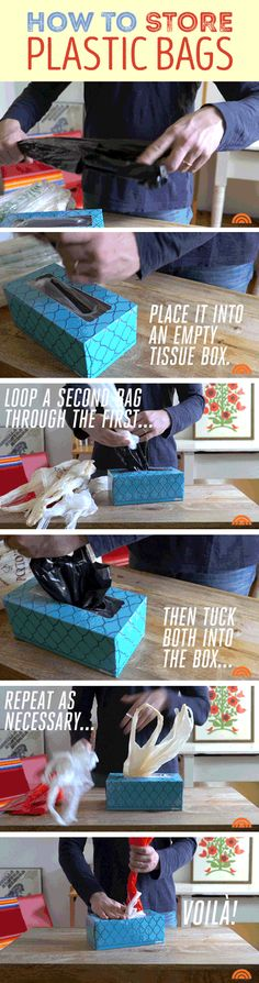 Here's the ultimate trick for storing those plastic bags