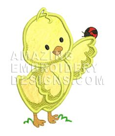 This free embroidery design is a chicken.