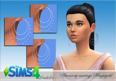 Irinka: Accessory earrings Magicgold • Sims 4 Downloads