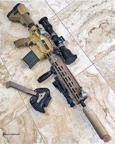 The best FDE rifle, change my mind Airsoft Guns, Weapons Guns, Guns And Ammo, Tactical Rifles, Firearms, Sniper Rifles, Shotguns, Battle Rifle, Custom Guns