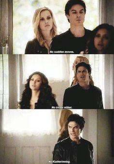 Katherine and Damon hahaha