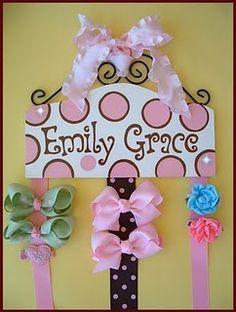 Love this for organising hair bows, makes a cute decoration too!