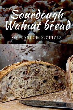 A how-to guide on making a sourdough walnut bread, full of whole wheat and with a rich nutty taste from walnuts and a hint of sourness. All You Need Is, Sourdough Bread, Bread Recipes, Banana Bread, Tasty, Baking, Olives, Desserts, Food