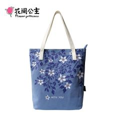 Good price Flower Princess Brand Girl Fashion Large Canvas Handbags Women Vintage Embroidery Floral Shoulder Bag Ladies Blue Tote Bag 005 just only $28.16 with free shipping worldwide  #womantophandlebags Plese click on picture to see our special price for you