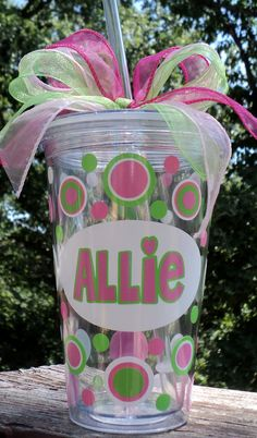 Personalized Delta Zeta Acrylic Tumbler by expressandcreate, $15.00