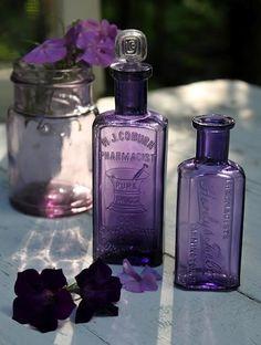 lavender coloured bottles