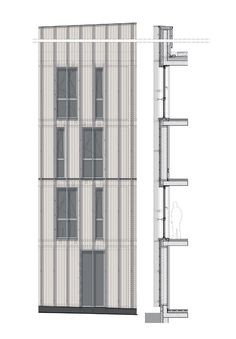 FACADE DETAIL SECTION + ELEVATION…….(should have facade detail plan underneath elevation to satisfy our requirement!) top: BARKOW LEIBINGER: Stadthaus M1 - Green City Hotel http://www.bdonline.co.uk/stadthaus-m1-housing-and-green-city-hotel-by-barkow-leibinger/5065756.article http://www.barkowleibinger.com/archive/view/stadthaus_m1_green_city_hotel_freiburg_vauban bottom: FOA:Housing Carabanchel posted by ik