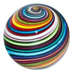1 Glass Marble ~ Eddie Seese BRILLIANT Joseph's Coat Swirl Marble feels like it's one of the moons of Jupiter. Caithness Glass, Marble Art, Glass Marbles, World Of Color, Glass Paperweights, Glass Ball, Crystal Ball, Hand Blown Glass, Paper Weights