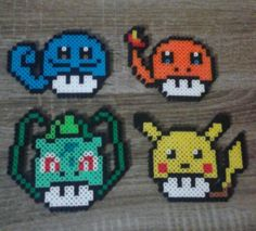 Pokemon/Mario Mushroom Mashup Perler Beads