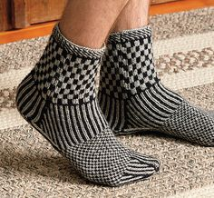Men's Gray Socks pattern by Laura Farson