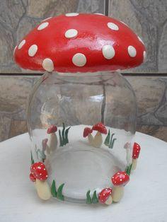 vidro de cozinha tampa cogumelo - Pesquisa Google