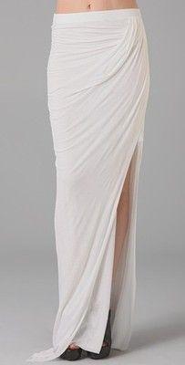 Helmut Lang Asymmetrical Long Skirt. I need it.
