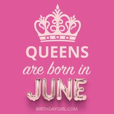 Sound the bullhorn Where my June Birthday Girls at? Comment QUEEN letter by letter below if you agree. Birthday Month Quotes, Happy Birthday To Me Quotes, Its My Birthday Month, Happy Birthday Wishes Images, Birthday Quotes For Daughter, Happy Birthday Girls, 27th Birthday, Birthday Cards, June Quotes