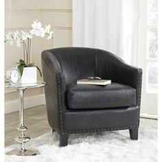 Shop for Safavieh Evander Antique Black Club Chair. Get free shipping at Overstock.com - Your Online Furniture Outlet Store! Get 5% in rewards with Club O!