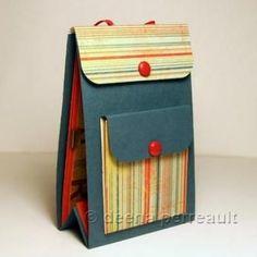 "mini backpack album tutorial scrapbook. Could be a fun ""school memories"" project?"