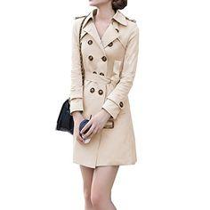 Zeagoo Damen Mantel Zweireiher G¨¹rtel Trenchcoat Jacke Outwear Zeagoo http://www.amazon.de/dp/B00OIOEW4E/ref=cm_sw_r_pi_dp_pawNub0AHB4R4