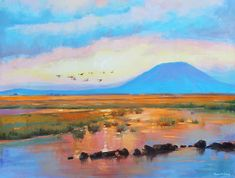 Nephin Dawn 2 Painting by Conor McGuire