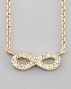 Sydney Evan 14k Gold Diamond Infinity Pendant Necklace