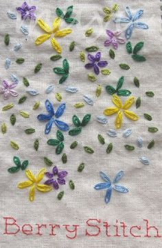 I ❤ embroidery . . . TAST Berry Stitch ~By Maya Matthew