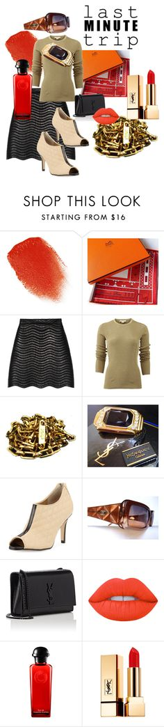 """""""LAST MINUTE TRIP"""" by francoisefortier ❤ liked on Polyvore featuring Kevyn Aucoin, Hermès, Gucci, Michael Kors, Yves Saint Laurent, Neiman Marcus, Lime Crime, Chanel, YSL and hermes"""