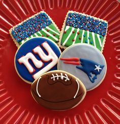 Football Sugar Cookie Collection & You can by NotBettyCookies