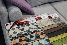 """Nasze nowe printy :) #upholstery #print #fabrics  Fot. Tomasz Markowski, miesięcznik """"BIZNES meble.pl"""""""