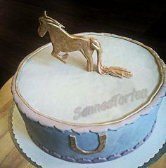 Golden Horse Cake