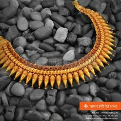 #Beautiful #ethnic #gold #necklace from our collection that describes you in person.