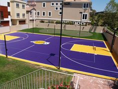 Lovely #outdoor basketball court. Like the colors. Check more at www.southerncaliforniahomes.com