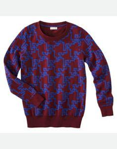 Merona Sweater | Burgundy & Blue