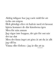 Swedish Quotes, Different Quotes, Madly In Love, My Heart Is Breaking, How I Feel, Best Quotes, Depression, Qoutes, Poems