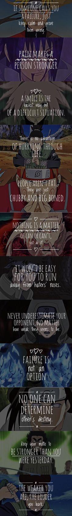 NARUTO QUOTES SET: 3 of 5 Naruto taught us so much! Nothing can replace my place for Naruto in my Heart. #NarutoQuotes #NarutoFacts #NaraShikamaru #AkimichiChouji #Tenten #InuzukaKiba #YamanakaIno #Sai #SakuraUchiha #SasukeUchiha #NarutoUzumaki #Lee #AburameShino #Kakashi #NejiHyuga #HinataHyuga #SakuraHaruno
