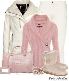 """Pink Sweater"" by denise-schmeltzer on Polyvore"