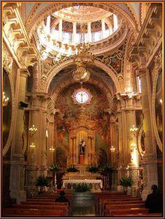 Interior, Templo de San Antonio de Padua, Aguascalientes