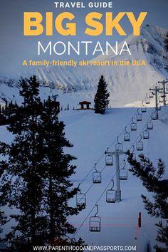 Sky, Montana - the best resort for beginner skiers Big Sky Montana -a family-friendly ski resort in the USA Sky Mountain, Mountain Resort, Mountain Biking, Big Sky Montana, Ski Montana, Las Vegas, Family Friendly Resorts, Best Ski Resorts, Beste Hotels