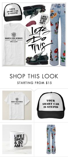 """""""Zazzle"""" by teoecar ❤ liked on Polyvore featuring Gucci and Kat Von D"""