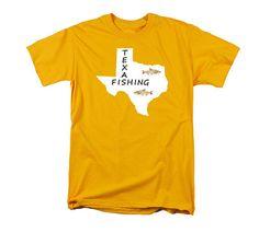 Texas Fishing T-shirt Digital Art Design by GrayWolfGallery