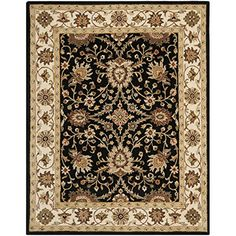 Safavieh Antiquity Collection AT249B Handmade Black Wool Area Rug 6 feet by 9 feet 6 x 9 ** Continue to the product at the image link.