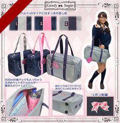 Japanese Women School Uniform Hand Bag Backpack Bookbag Cosplay Shoulder Bag