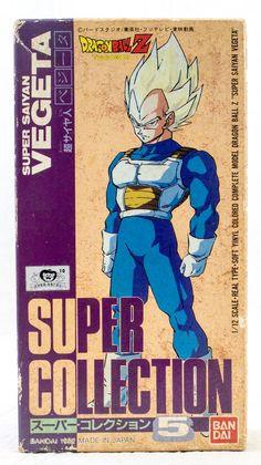 Dragon Ball Z S.S. Vegeta 1/12 Figure Super Collection 5 Bandai 1992 JAPAN ANIME