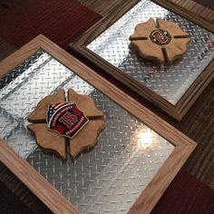 Custom Plaques of all Shapes and Sizes. Best Picture For wooden reel table For Your Taste You are looking for something, and it is going to tell you exactly what you are look Firefighter Crafts, Firefighter Love, Firefighter Clipart, Volunteer Firefighter, Fire Dept, Fire Department, Fire Hose Crafts, Fire Hall, Holiday Crafts For Kids
