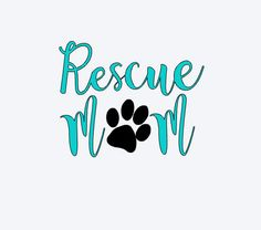 Rescue mom decal, Dog mom Decal, Dog decal, animal rescue, laptop sticker, animal shelter, animal adoption, mug decal by MaggieJeanCo on Etsy https://www.etsy.com/listing/520384931/rescue-mom-decal-dog-mom-decal-dog-decal