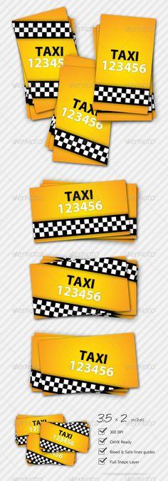 Premium Taxi Business Card | $6