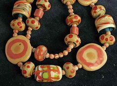 ca 12 mm handmade Kazuri Kenya 80 pieces of ceramic beads