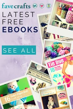 So many free craft projects, all in one place. These eBooks download as pdf files so you can easily print the projects.