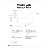 ADA | Mouth Healthy Kids | Crossword puzzles & More