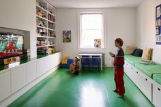 Love the Dalsoupe rubber floor in this playroom. Noted for next house!
