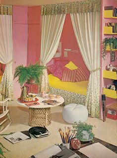 Retro Bedroom Design Magnificent Bedroom Design From Seventeen Magazine March 1962What My Fave Design Decoration