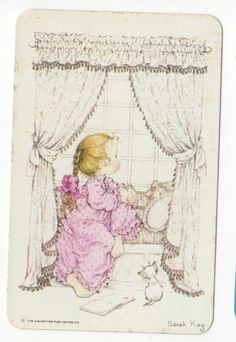 Vintage Blank Back Sarah Kay Playing Card Good Condition Smooth Stock   eBay